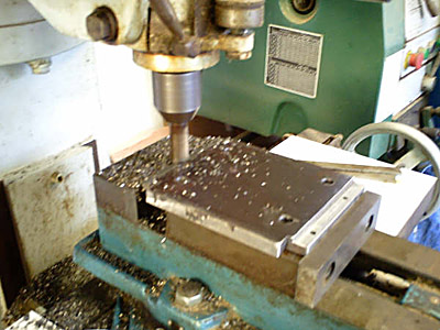 Machining plate edges