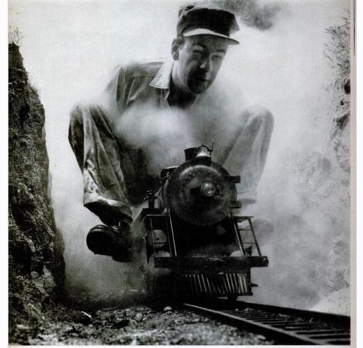 Ollie Johnston on his Pacific Locomotive