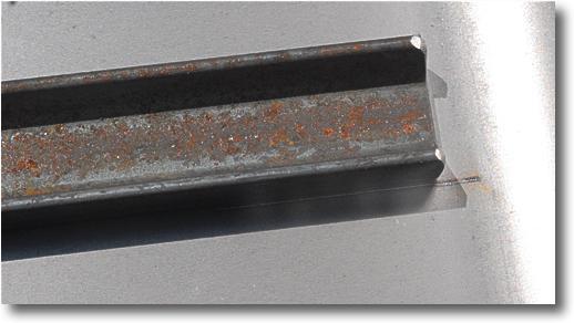 laser scribed line for positioning