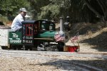 Picture Title - Tim driving the Jillie Belle