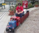 Picture Title - Matthew running the money train