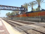 Picture Title - BNSF 7353, 4027, 5151 and one more loco then Stack Train - Fullerton Station