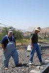 Picture Title - Phil and Jim waiting on a train at the Tehachapi Loop